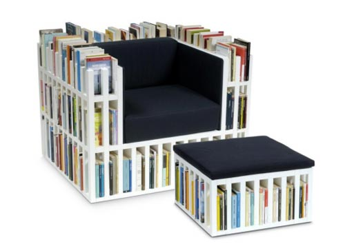 bibliochaise et bibliopouf